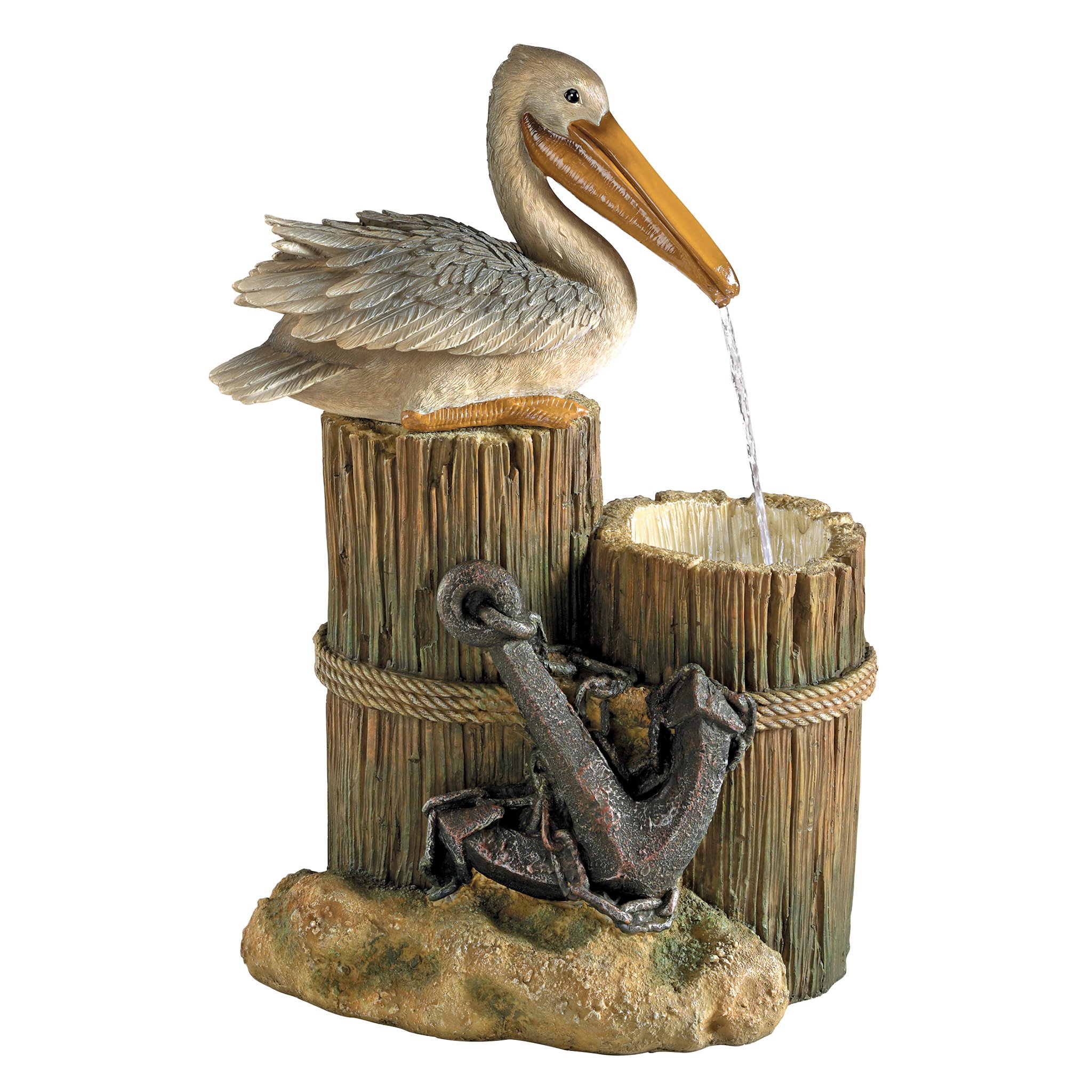 Design Toscano Pelican's Seashore Roost Sculptural Fountain