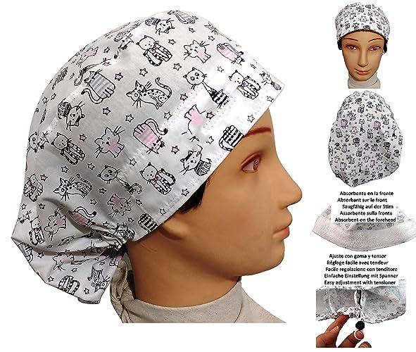 Cappello chirurgico. Donna. GATTINI per capelli lunghi ee0fcf7430af