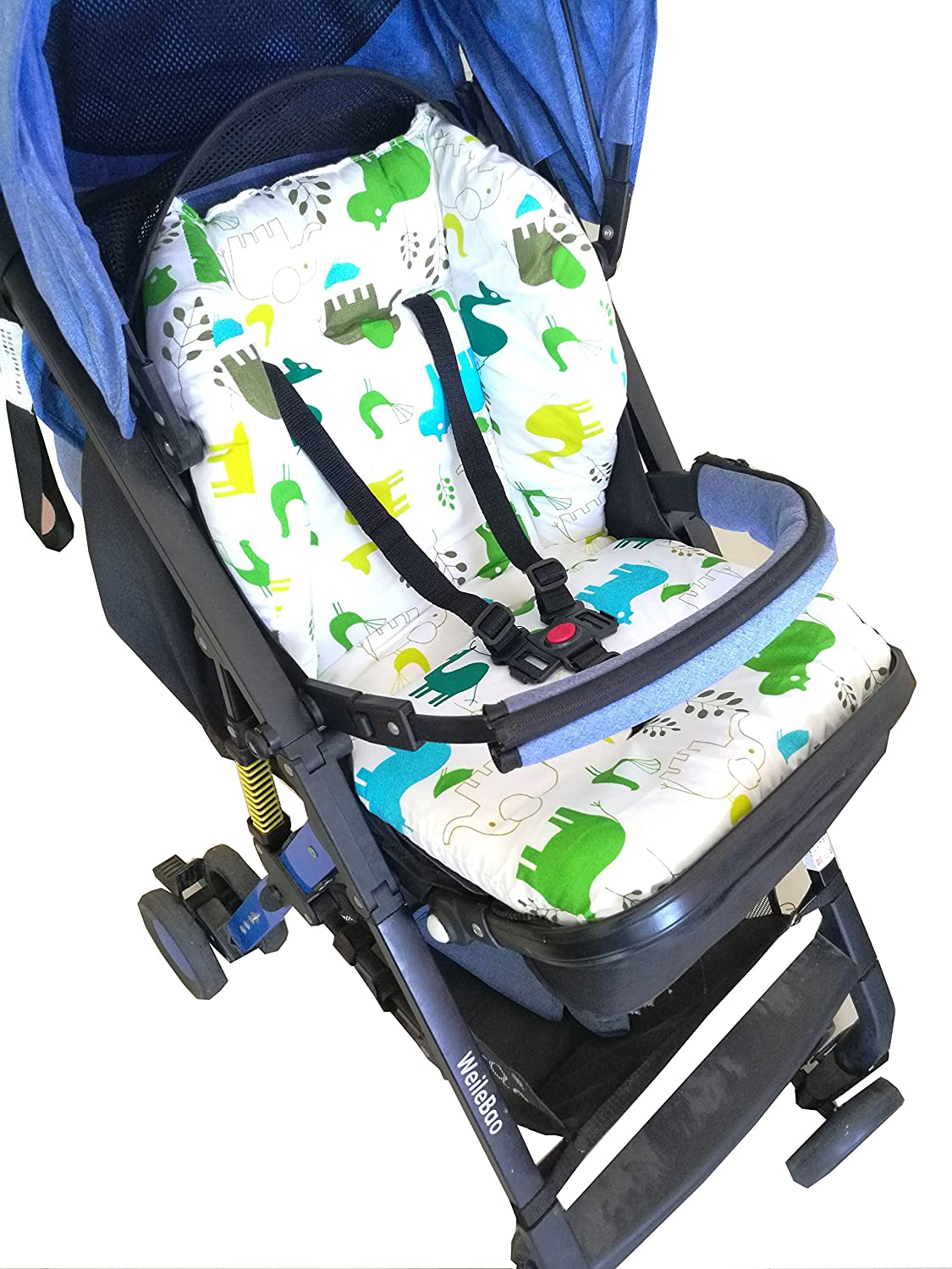 Twoworld Baby Stroller//Car//High Chair Seat Cushion Liner Mat Pad Cover Protector Breathable(Green)