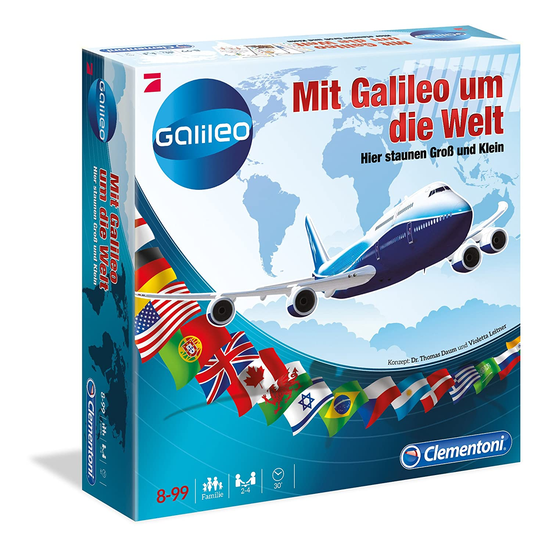 Brettspiel Mit Galileo um die Welt Clementoni amazon