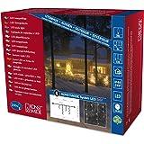 Konstsmide 4621-103 Hightech System - Guirnalda de luces LED (200 diodos blancos), transparente