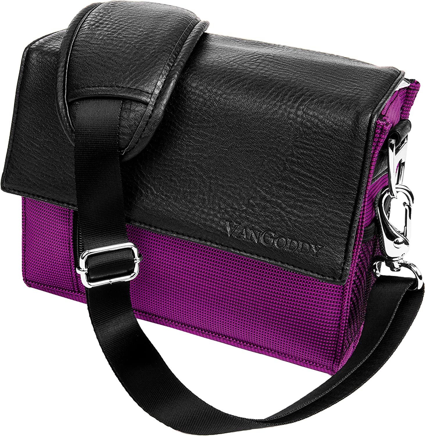 Purple Crossbody Shoulder Camera Carrying Case Bag for Nikon Z50 Z7 Z6, D DL CoolPix Series
