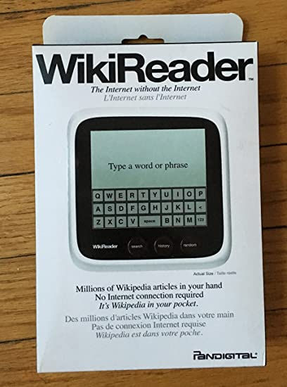 Pandigital Handheld electrónico Enciclopedia, bolsillo Wikipedia lector – para estudiantes, profesores y educadores –