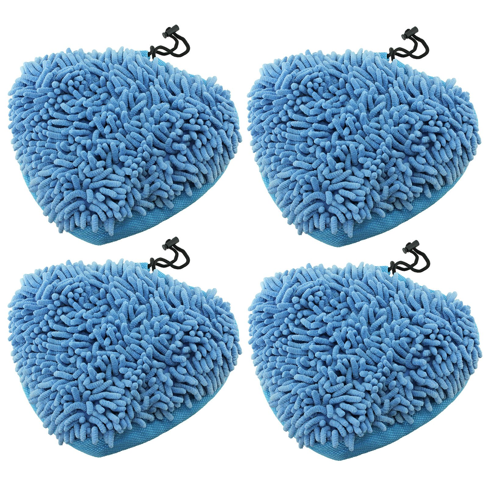 Spares2go Universal Coral Microfibre Cloth Cover Pads For Steam Cleaner Mops (Pack Of 4)