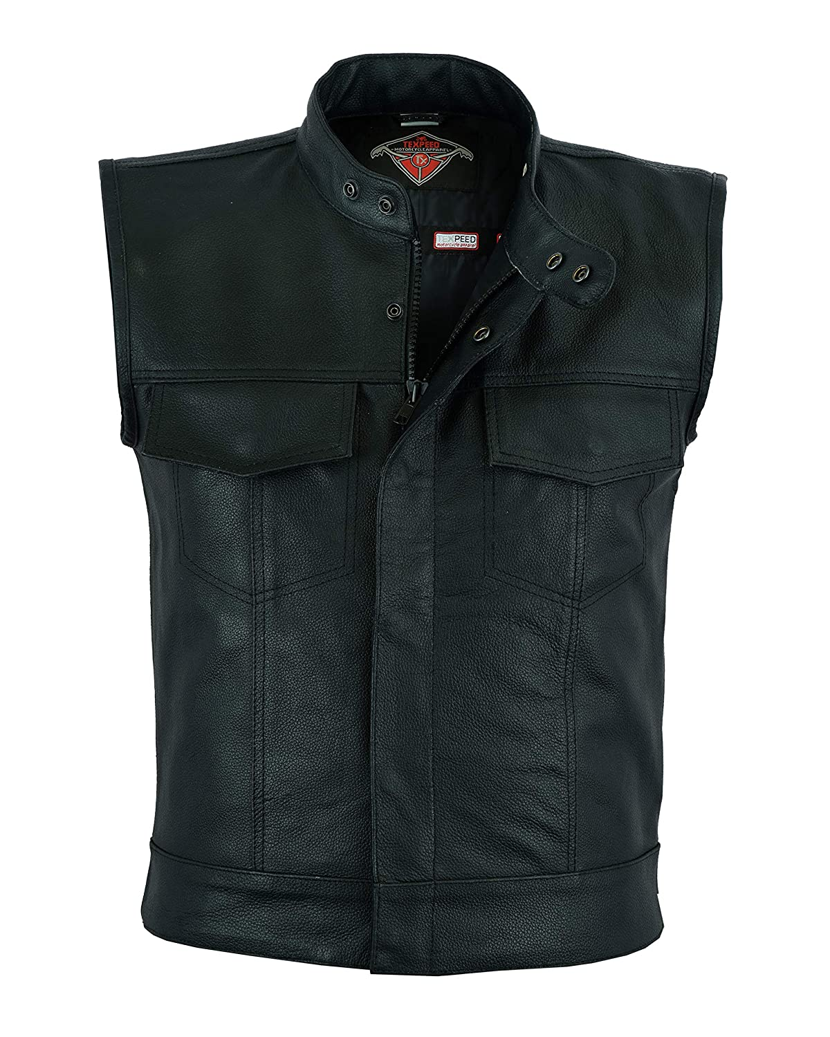 Sons of Anarchy Leather Biker Waistcoat Motorcycle Motorbike Vest by Texpeed