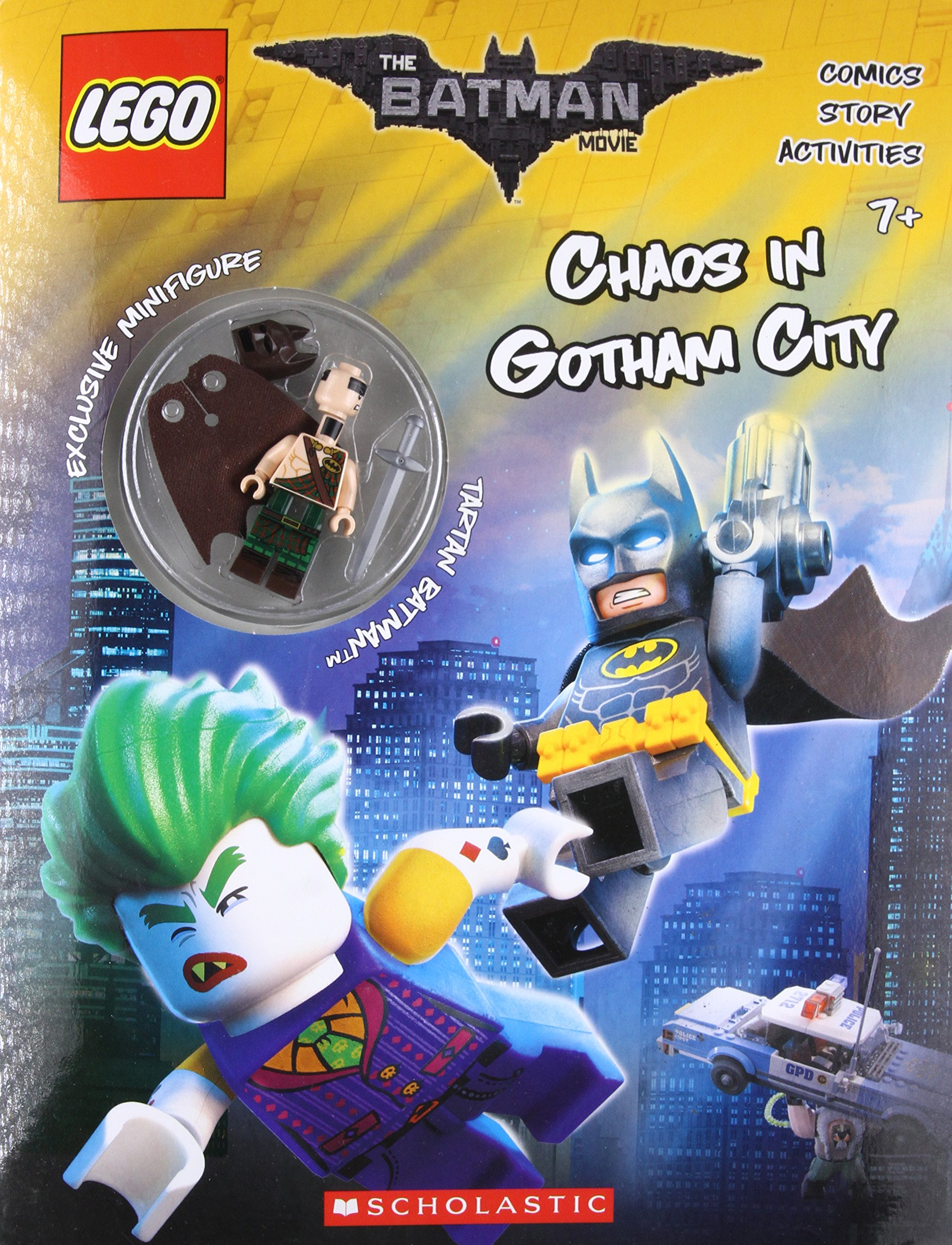Amazon Com Chaos In Gotham City The Lego Batman Movie Activity Book With Minfigure 9781338112122 Ameet Studio Books