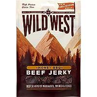Wild West Honey BBQ Natural Beef Jerky Miel BBQ Boeuf séché Boîte de 12 x 25g