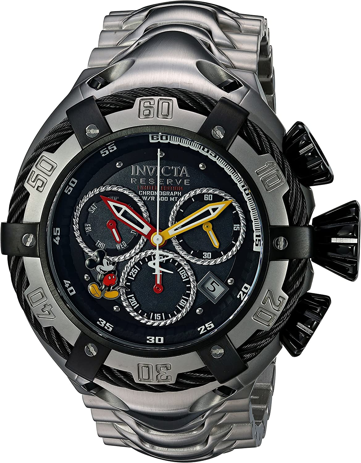 Invicta Men s Disney Limited Edition Quartz Watch with Stainless-Steel Strap, Silver, 29 Model 24658