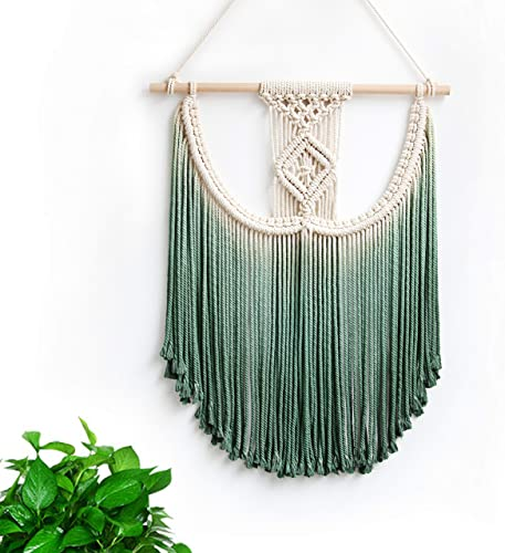 Macrame Wall Hanging Tapestry Hand Woven Pendant Decoration House Ceremony Living Room Home Furnishing Accessories Green