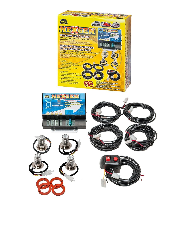 Amazon.com: Wolo (8504-11CCAA) NexGen 40 Watt Power Supply Gen 3 LED Emergency Warning Four Head Kit - 2 Clear LED Heads, 2 Amber LED Heads: Automotive