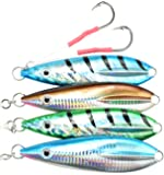 Last Cast Tackle 80g-250g Flat Fall Jig W/Double Assist Hook - 4 Colors & 5 Weights to Choose from