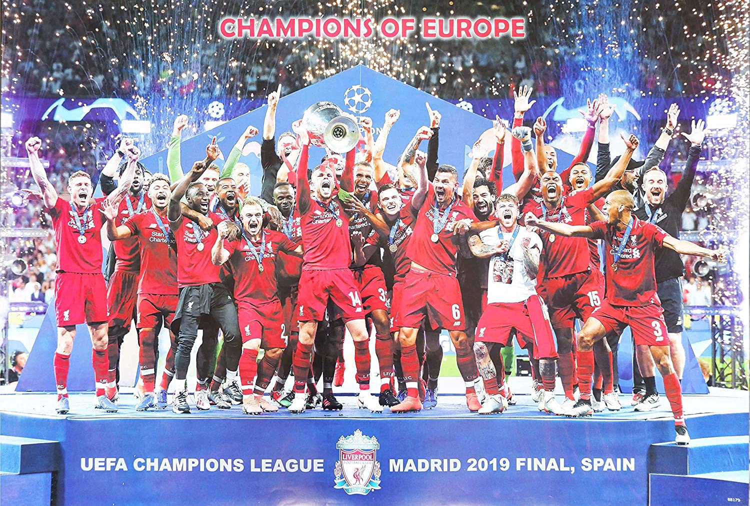 Amazon Com Liverpool F C Uefa Champions League Madrid 2019 Final Spain Football Soccer Wall Decoration Poster 003 Home Kitchen