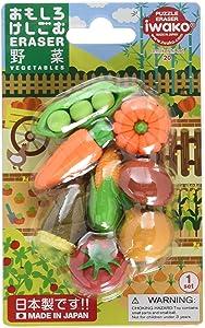 Iwako Japanese Vegetable Eraser Set