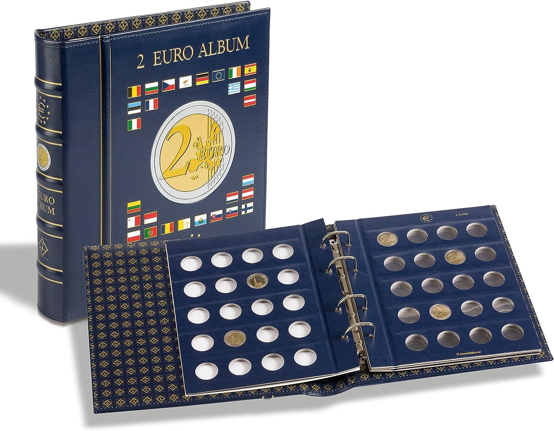 VISTA Álbum para monedas de 2euros (4 hojas neutras) con cajetín, azul: Amazon.es: Deportes y aire libre