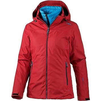 CMP - Chaqueta doble, mujer, color rojo, tamaño 44: Amazon.es: Deportes y aire libre
