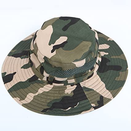 f7d7afc5bdf Amazon.com   Fishing Sun Boonie Hat Summer UV Protection Cap Outdoor  Hunting Hat   Sports   Outdoors