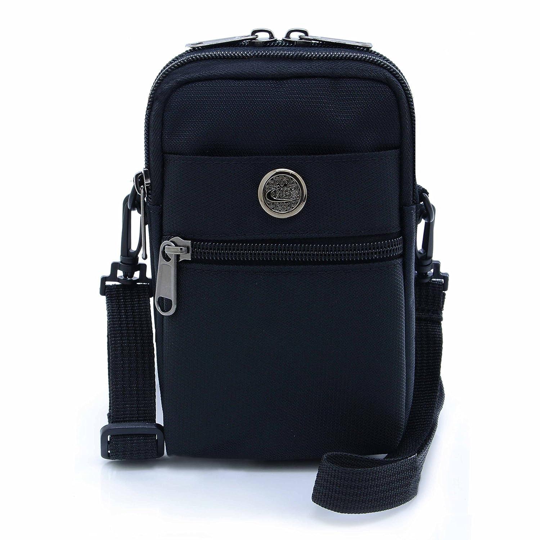 U-times Tasche, Leger, wasserabweisend, Nylon, Taillentasche, Sichere Tasche für 6 Zoll / 15,2 cm Handys
