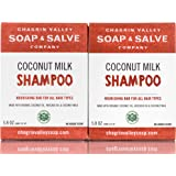 Organic Natural Shampoo Bar, Coconut Milk 2X Pack, Chagrin Valley Soap & Salve