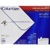 "Columbian #10 Security Tinted Envelopes, Grip-Seal, 4-1/8"" x 9-1/2"", White, 250 Per Box (CO148)"