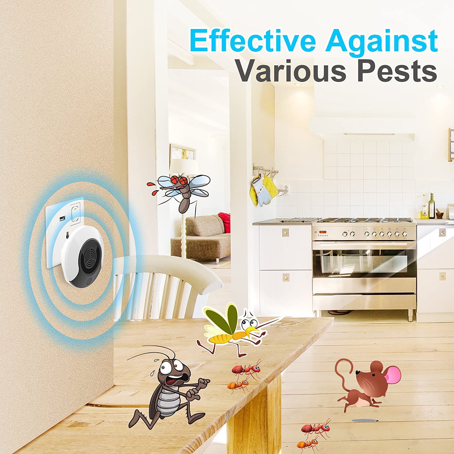 Yiven Pest Repellent Ultrasonic Control Mouse Plug Is The Circuit Diagram Of An Mosquito Repellerthe In Repeller Indoor Outdoor Electronic Rodent Insect