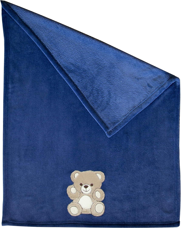 bleu 75x100 cm Zollner Couverture pour b/éb/é