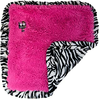 "product image for Bessie and Barnie Zebra/ Lollipop Luxury Shag Ultra Plush Faux Fur Pet, Dog, Cat, Puppy Super Soft Reversible Blanket (Multiple Sizes), XS - 20"" x 20"""