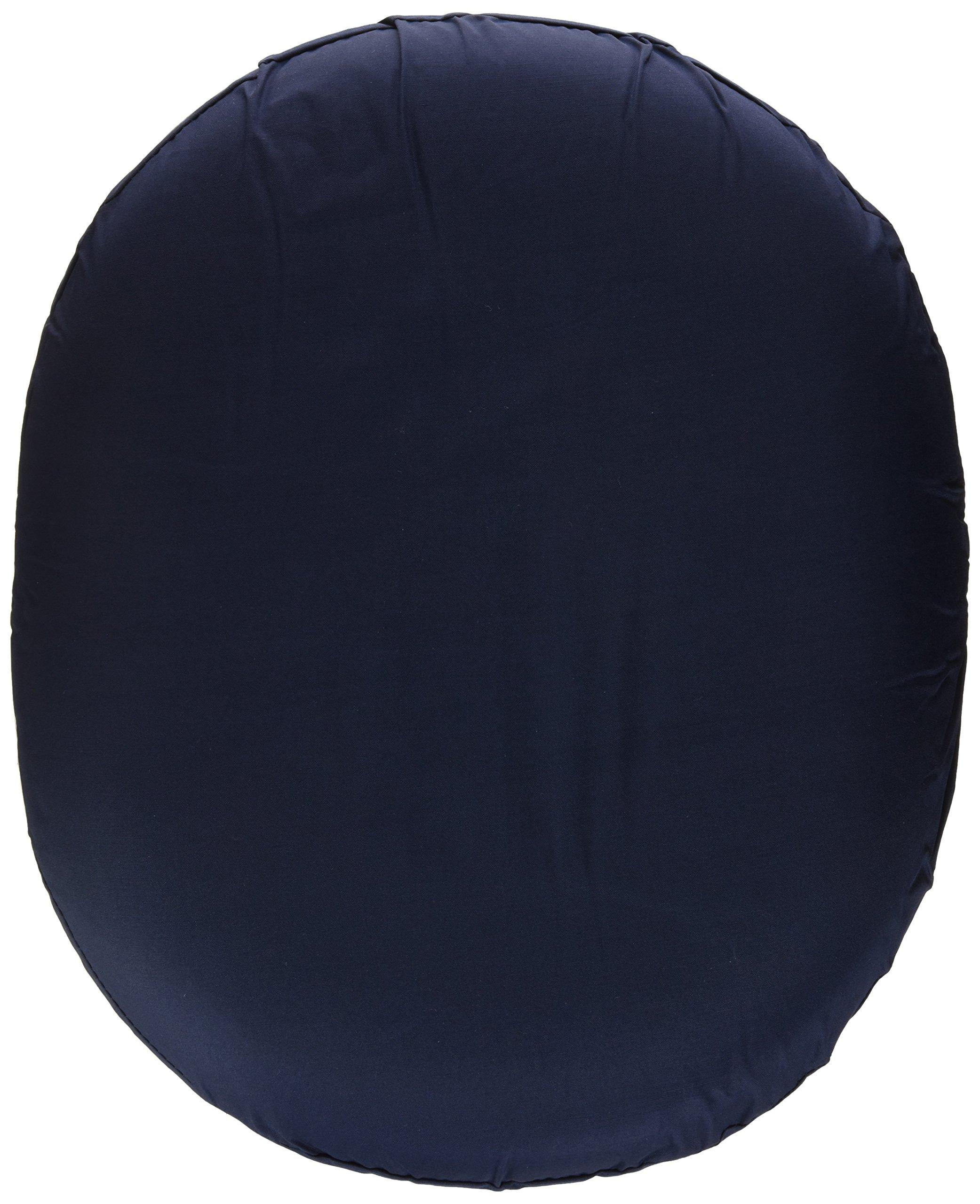 DMI 14-inch Molded Foam Ring Donut Seat Cushion Pillow for Hemorrhoids, Back Pain, Navy