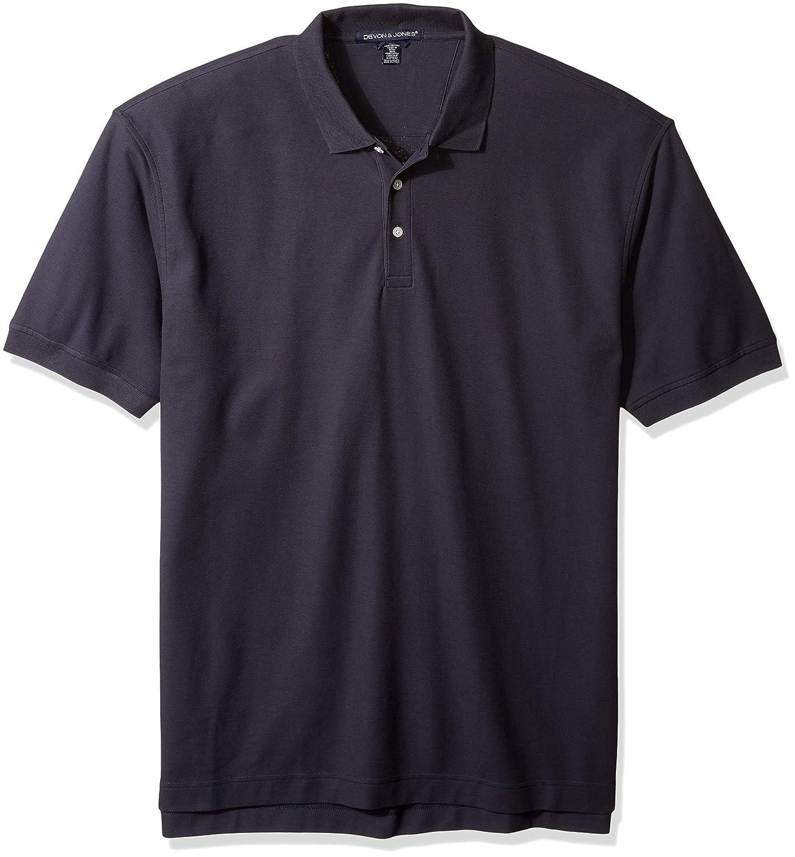 D and Jones Mens Tall Size Dejn-d100t-tall Pima Piqu/é Short-Sleeve Polo