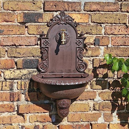CLGarden WB1 Pared en el diseño nostálgico Jardín Fuente de Agua con lavabo: Amazon.es: Jardín