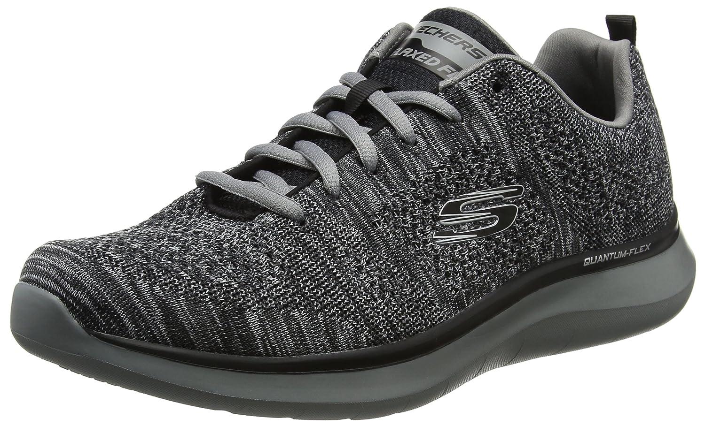 NEU SKECHERS HERREN Sneaker Walking Trainers Memory Foam QUANTUM FLEX ROOD Weiß
