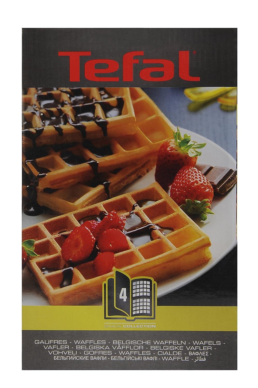 Cofanetto con piastra per waffle Tefal XA800412 Snack Collection lingua italiana non garantita 4,4 x 15,5 x 24,2 cm con libro delle ricette