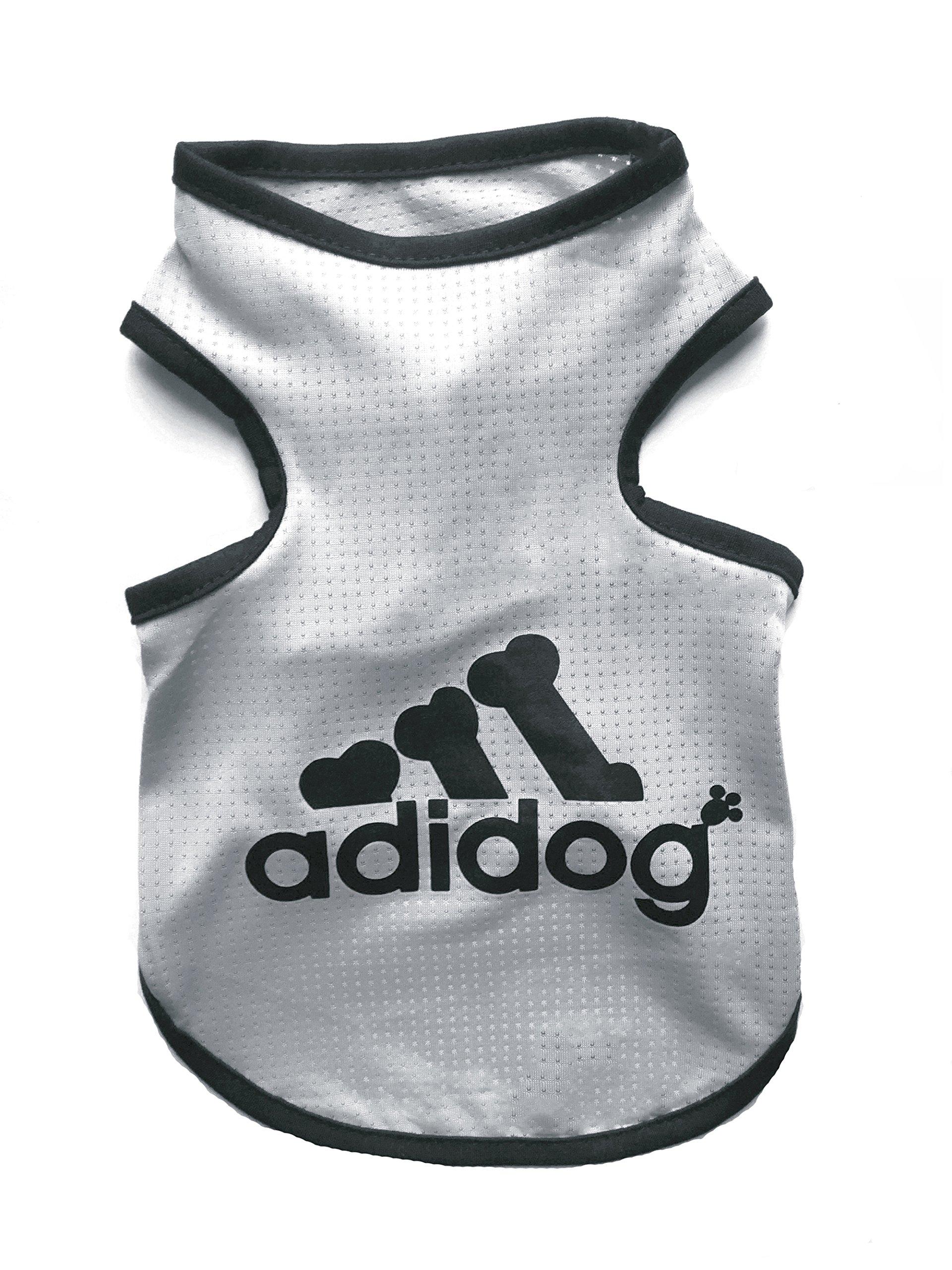 Rdc Pet Adidog Dog T Shirt, Dog Shirts, Dog Clothes Summer Tank Top Vest from S to 9X-Large for Small dog, Medium Dog, Large Dog (Grey, 7XL)