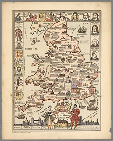 Amazoncom Map Poster  The story map of England Egbert G