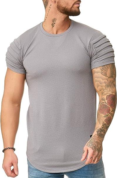 OneRedox Herren Rundhals T Shirt Hoodie Longsleeve Kurzarm Shirt Sweatshirt Modell 3322
