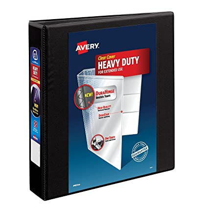 amazon com avery heavy duty view binder with 1 5 inch one touch