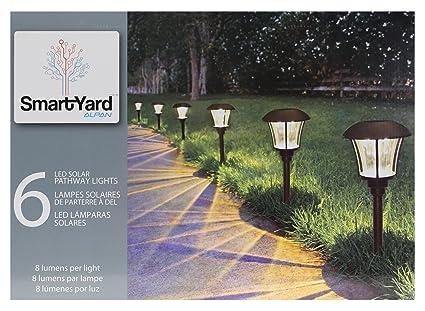 SmartYard LED Solar Pathway Lights, 6-pack