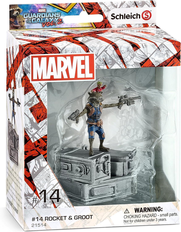 GOTG 2 Movie 21514 Schleich- Marvel Heroes Figurine Rocket /& Groot