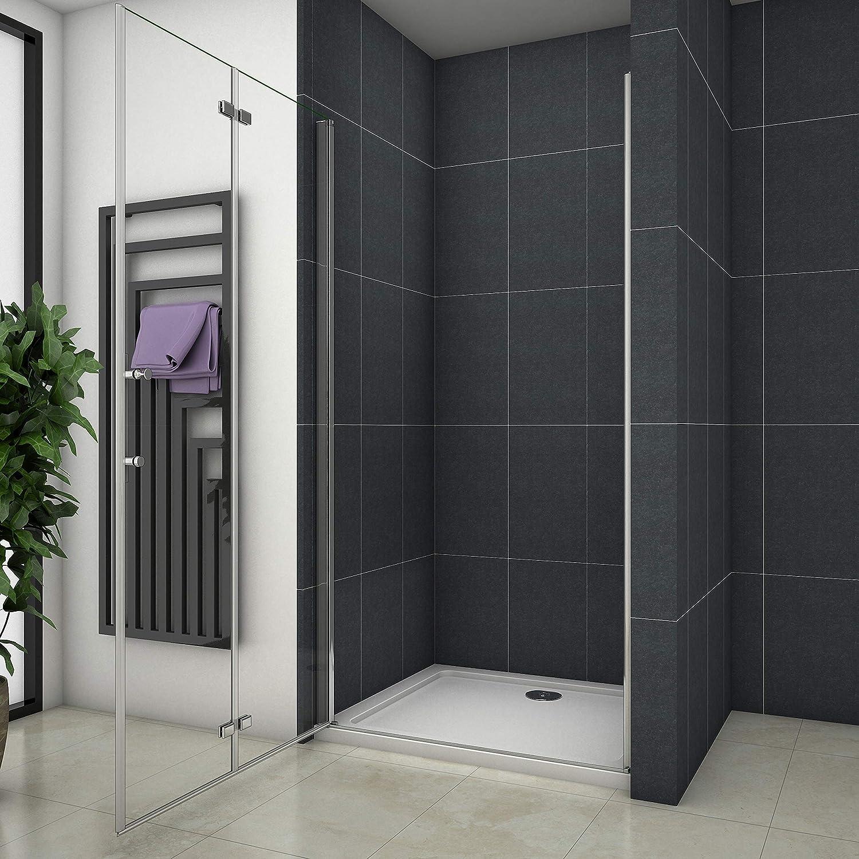 Mampara de ducha Apertura de Puerta Plegable Antical 110x195cm: Amazon.es: Bricolaje y herramientas