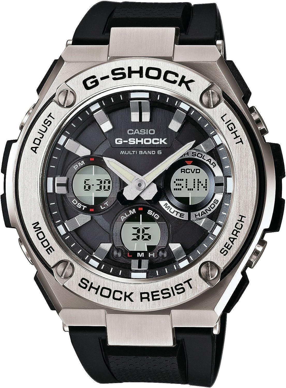 CASIO Reloj Analógico-Digital para Hombre Correa en Resina GST-W110-1AER