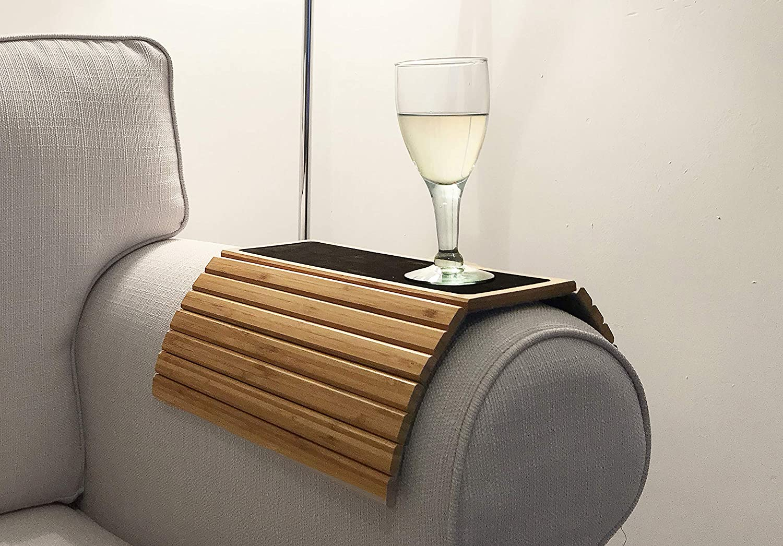 En Route - Bandejas para sofá (plegable), diseño de bambú: Amazon.es: Hogar