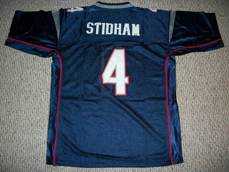Amazon Com Unsigned Jarrett Stidham 4 New England Custom Stitched Blue Football Jersey Various Sizes New No Brands Logos Clothing