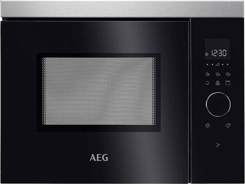 AEG MBB1755DEM Integrado - Microondas (Integrado, Microondas combinado, 17 L, 800 W, Tocar, Negro, Acero inoxidable)