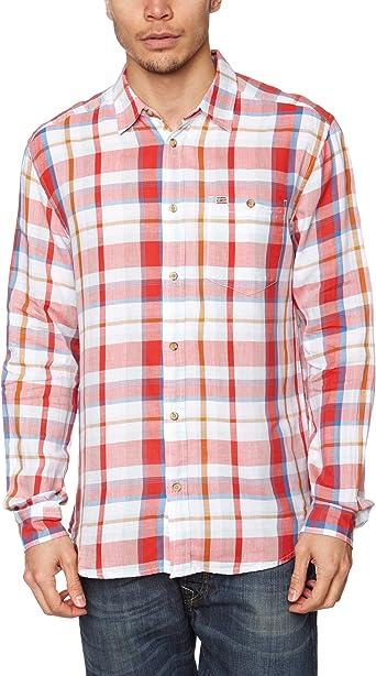 Wrangler - Camisa a Cuadros de Manga Larga para Hombre, Talla ...