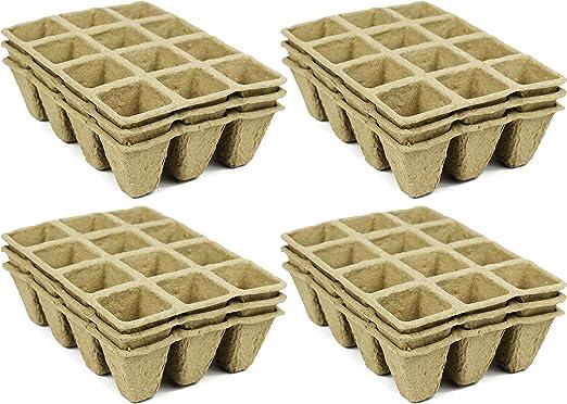 Set de Biodegradable Eco Friendly maceteros de turba bandejas. 12 ...
