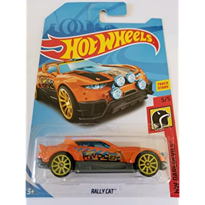 2020 Hot Wheels Hw Daredevils 5/5 - Rally Cat (Orange): Toys & Games