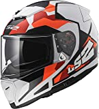 LS2 390-1204 Full Face Helmet (White, L)