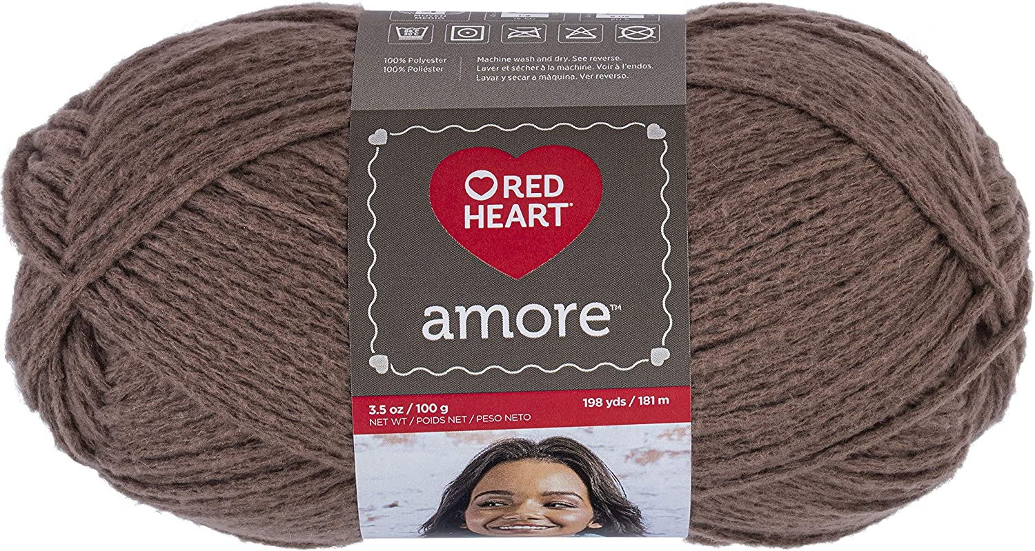 Red Heart Amore soft textured yarn 198 yds each lot of 2 Chamomile