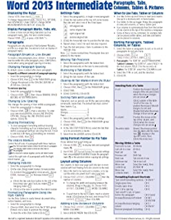 Microsoft Word 2013 Templates & Forms Quick Reference Guide (Cheat ...