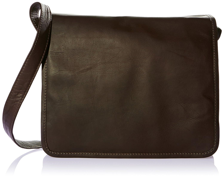 2d83b6bc56d Piel Leather Large Handbag with Organizer, Black, One Size