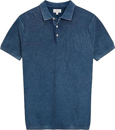 next Hombre Camisa Polo con Textura Manga Corta De Algodón ...